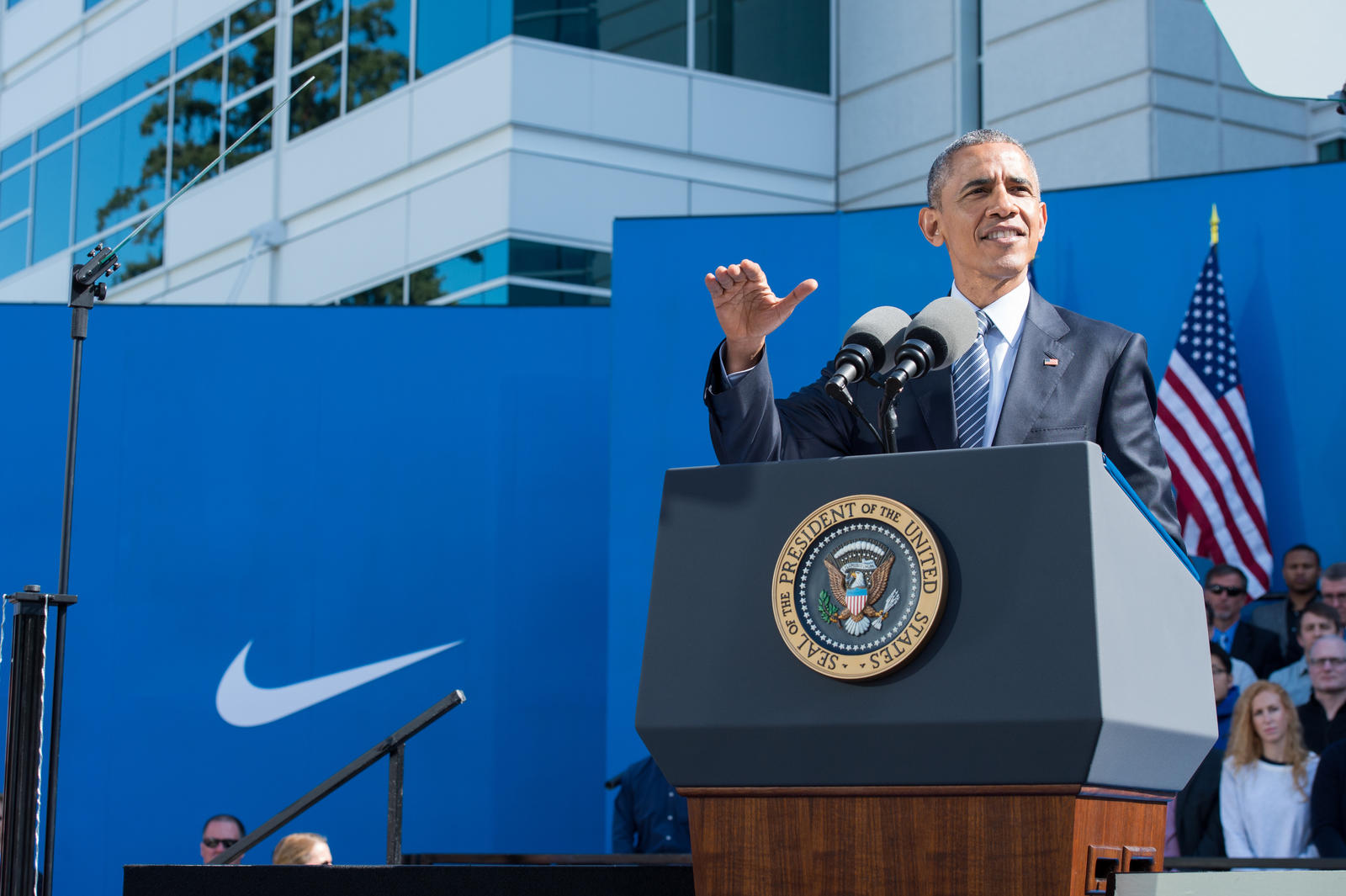 Nike Welcomes President Obama to its World Headquarters