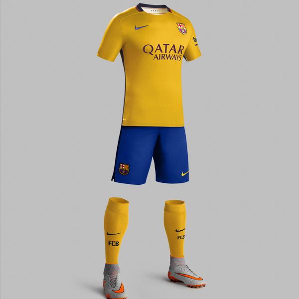 EXCELLENT!! 2015-16 Barcelona Third Shirt Jersey Trikot S