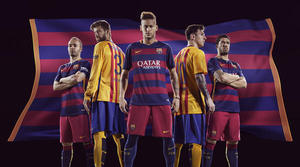 023fffd1d27 NIKE AND FC BARCELONA UNVEIL BOLD NEW HOME AND AWAY KITS FOR 2015-16 ...