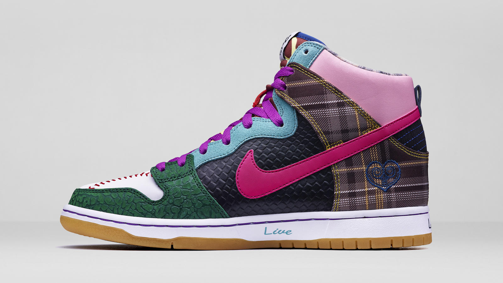 What The Doernbecher Nike Dunk High SB featuring 42 design elements from all 13 of the program's SB designs