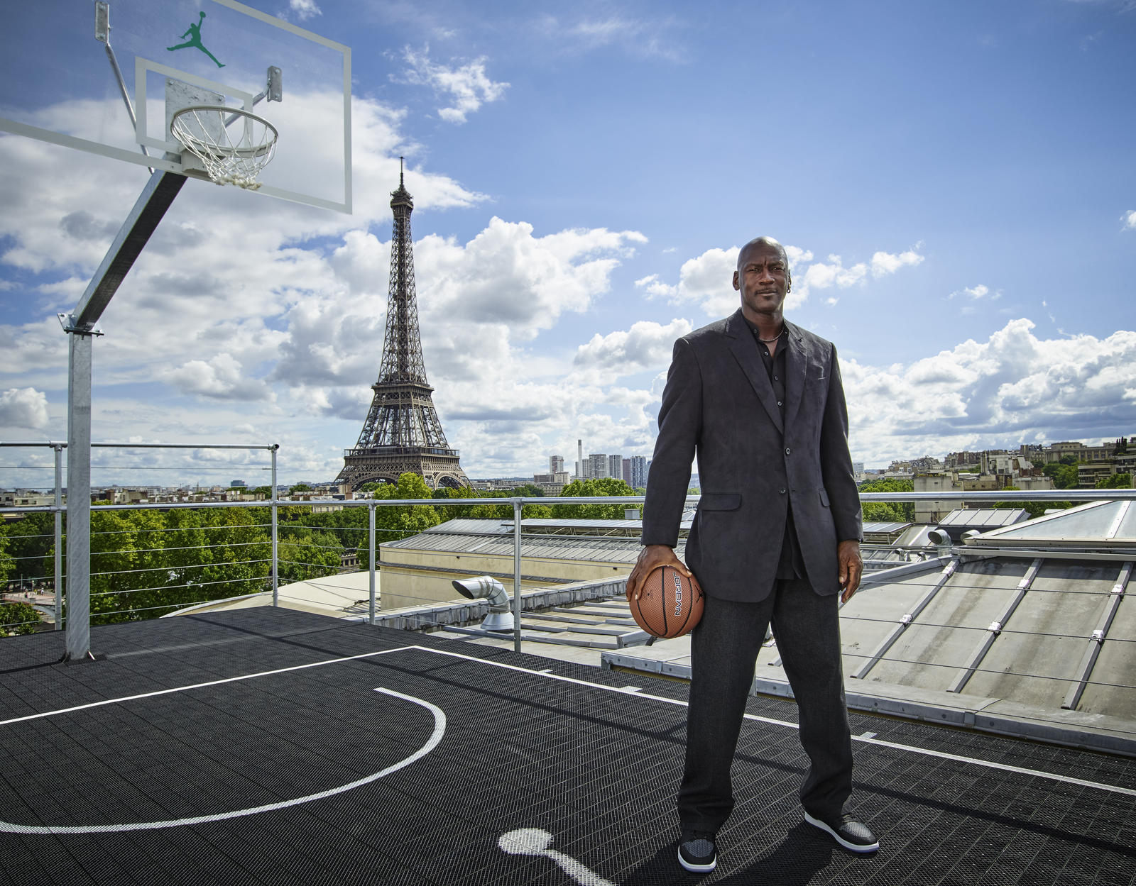 Michael Jordan visits Paris to launch the Jordan Brand Palais 23 experience.