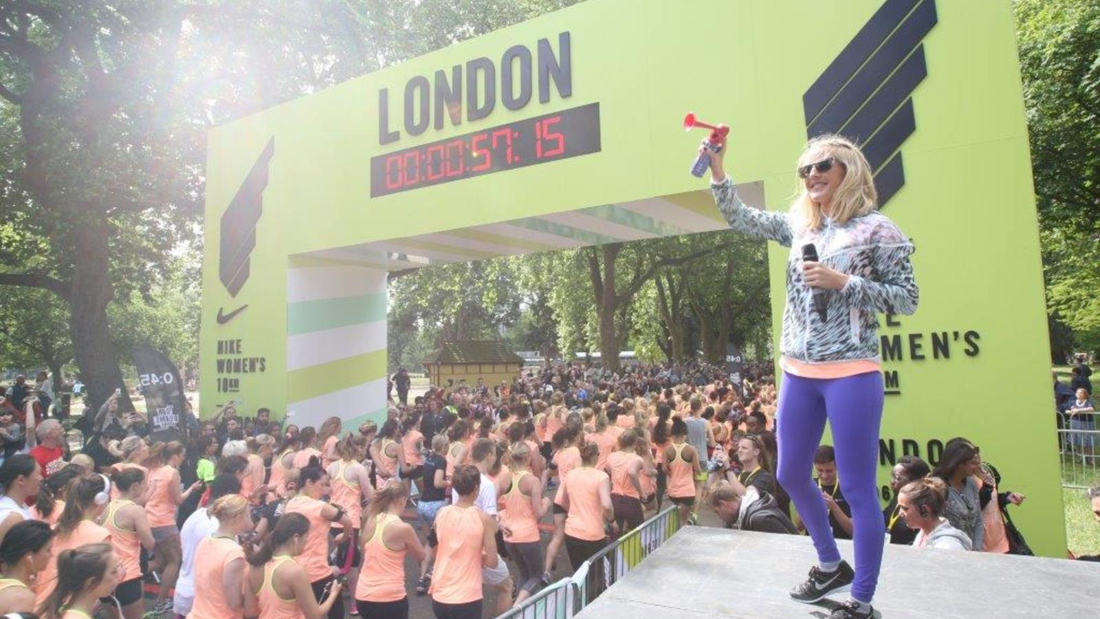 best website 04d82 9e521 Ellie Goulding Starts Nike Womens 10k London