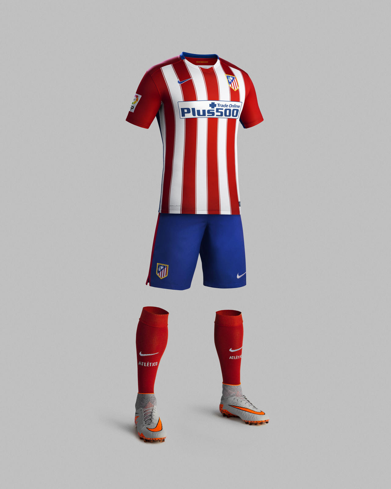 nike pays homage to atl tico de madrid s historic double winning campaign with 2015 16 home kit. Black Bedroom Furniture Sets. Home Design Ideas