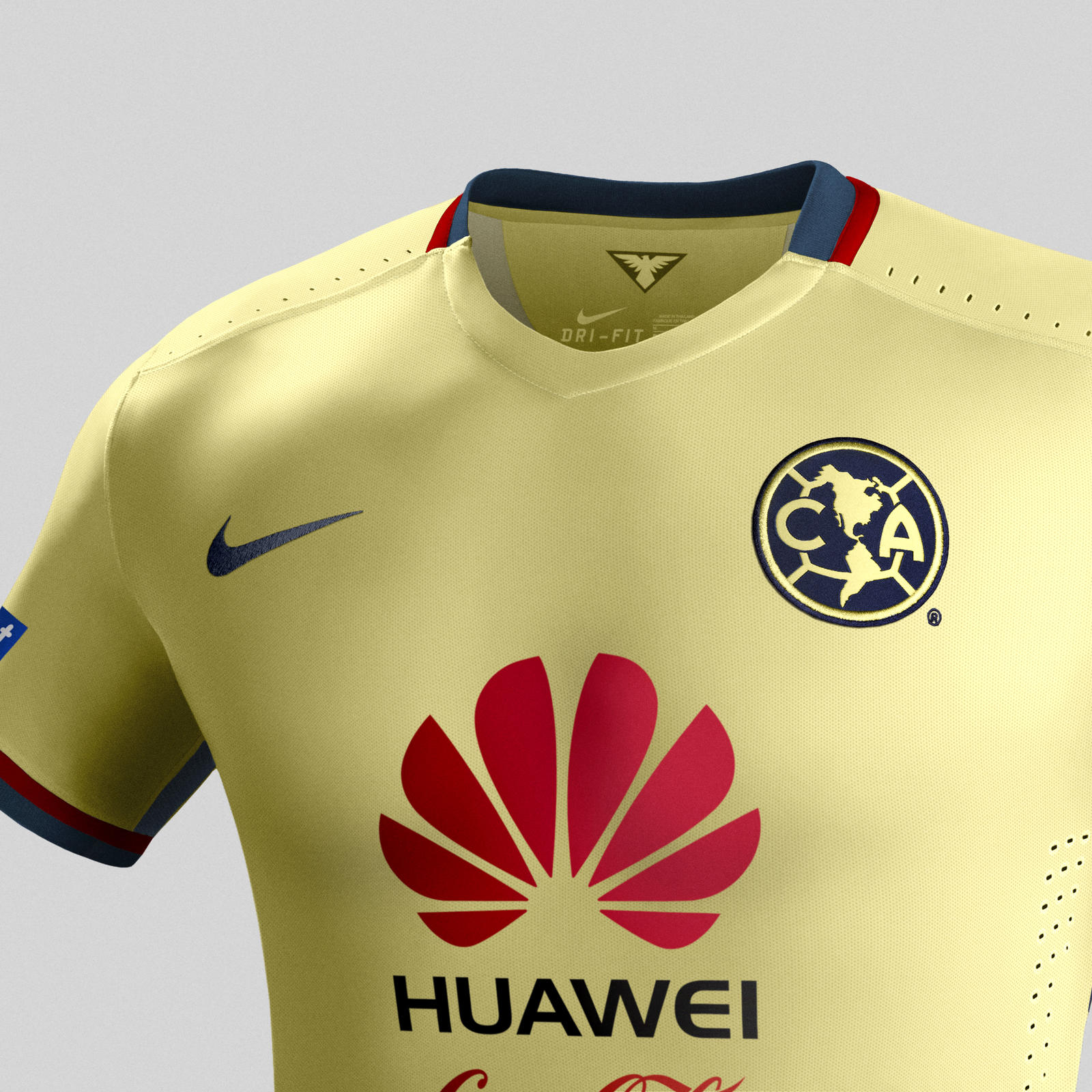 91dcc2e16 2015 2016 club america soccer jersey uniform yellow short sleeves
