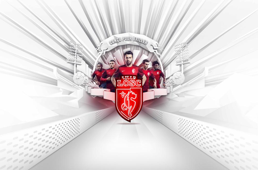 Modern Design Brings a Fresh Aesthetic to Classic Colors for Lille OSC 2015-16 Home Kit