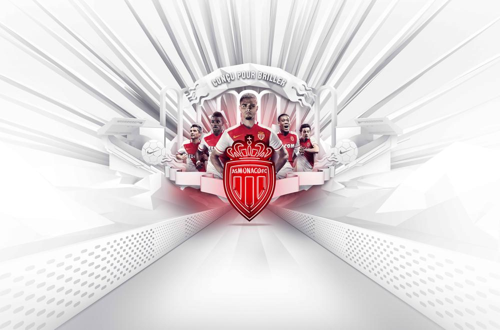 Golden Details for 2015-16 AS Monaco Home Kit by Nike