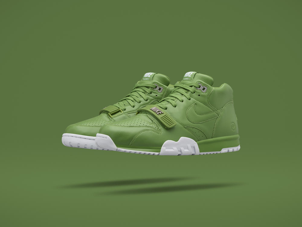 Going Green: NikeCourt Air Trainer 1 Mid x fragment