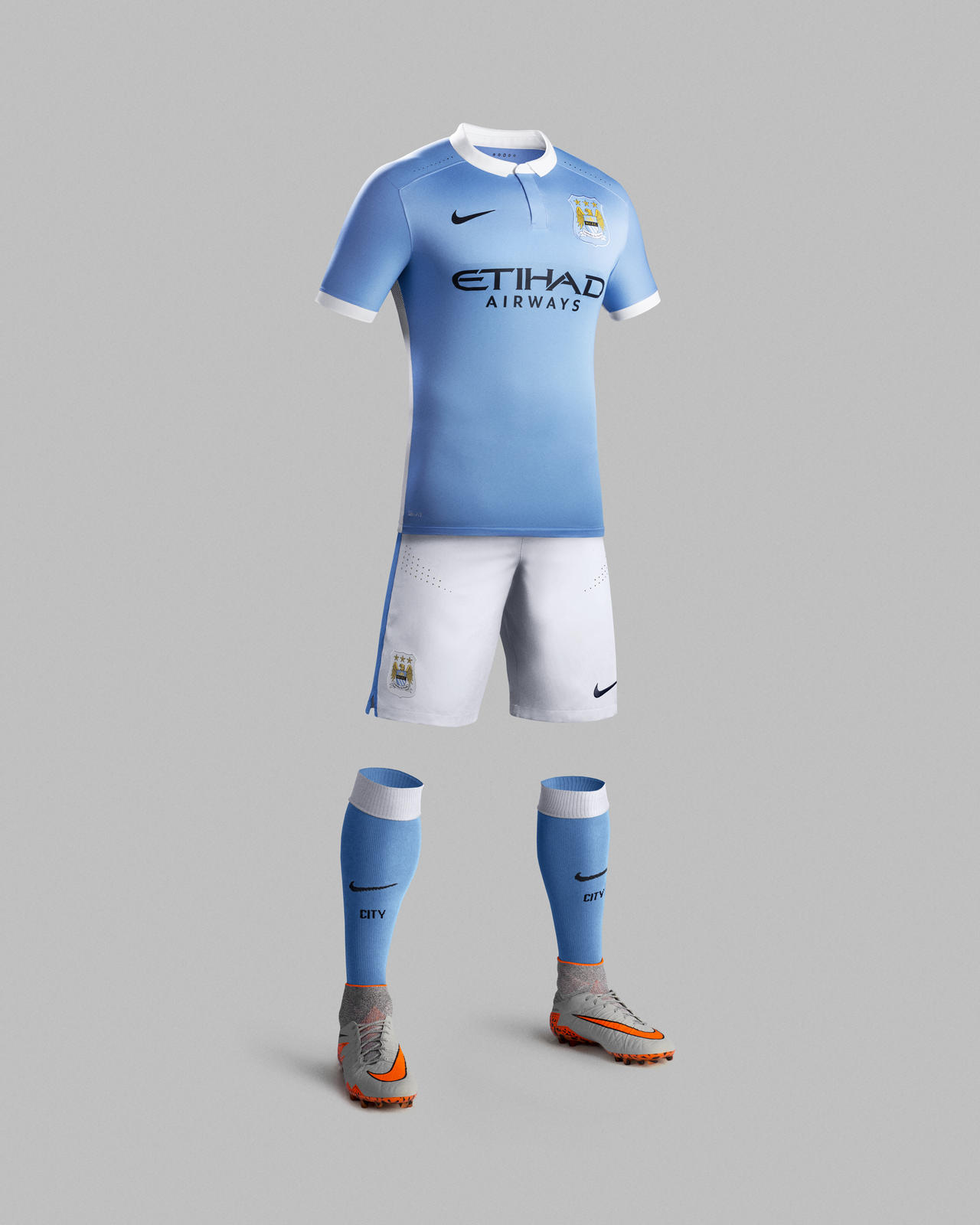 Manchester City 2015-16 Home Kit Brings Nike Football Performance Innovation to a Timeless Look ...