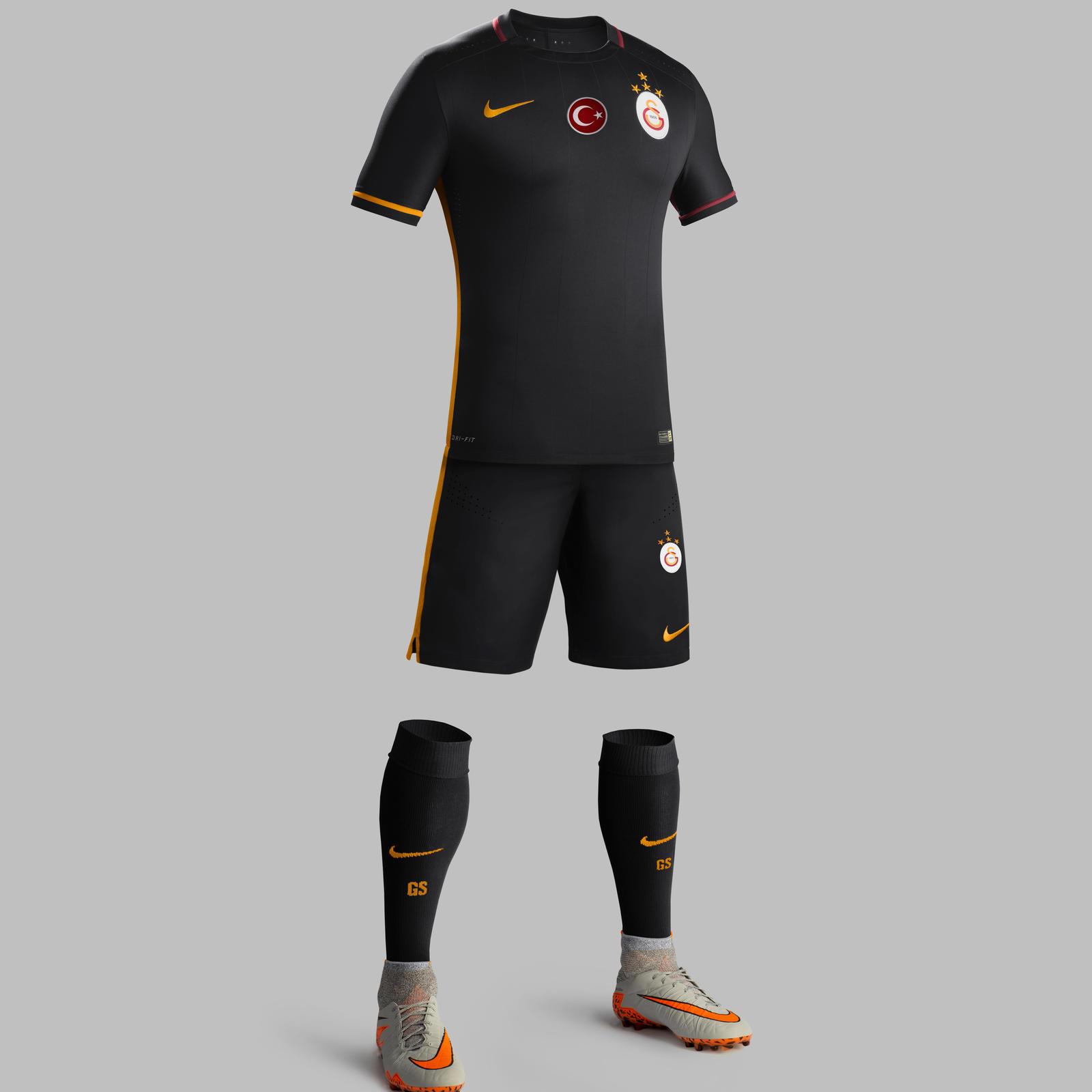 pretty nice 14f54 6b53a Galatasaray 2015-16 Kit Celebrates An Historical Achievement ...