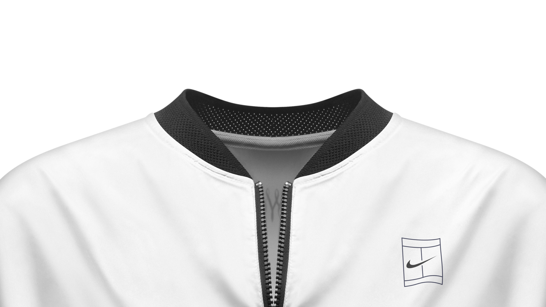 Women's Vest - Nike Court Pure - White/Black : H22r7426