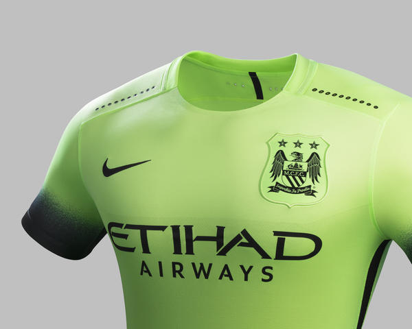 Striking Green Creates Bold Look for Manchester City