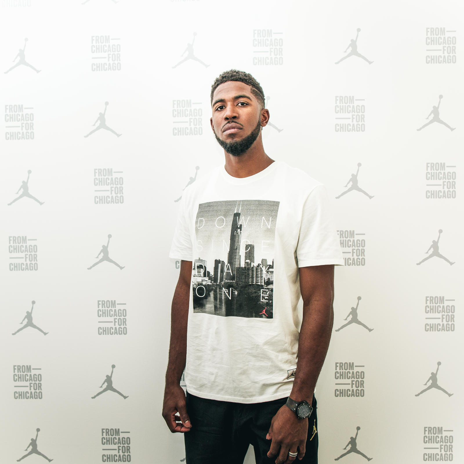 Dexter Fowler at 32 South State Street Grand Opening