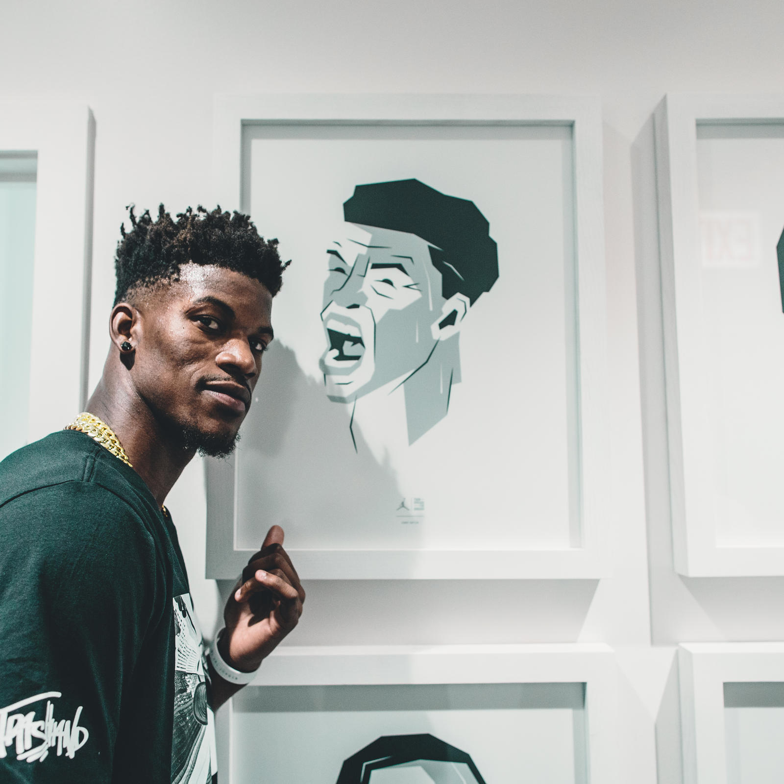 Jimmy Butler at 32 South State Street Grand Opening