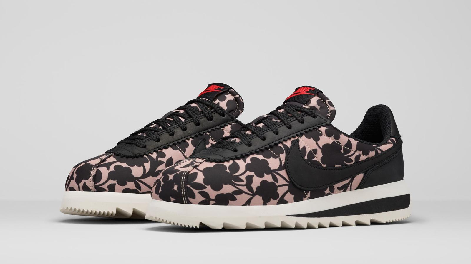 Contemporary Florals Energize New Liberty London x Nike Collection ... 91589ea041fb