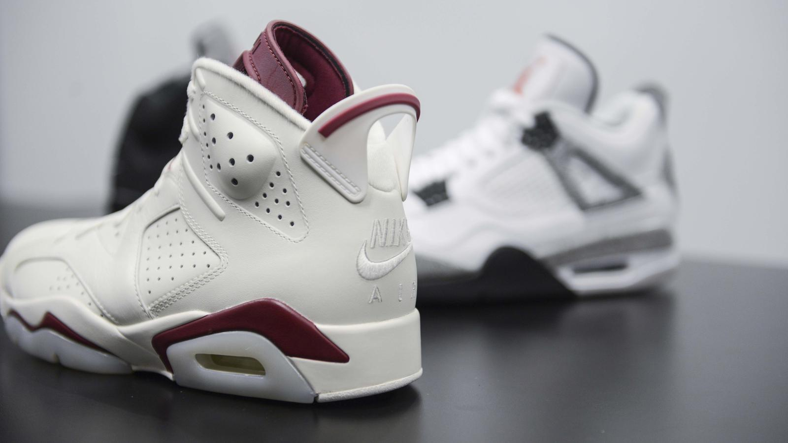 "Air Jordan VI ""Maroon"" and Air Jordan IV ""Cement"""