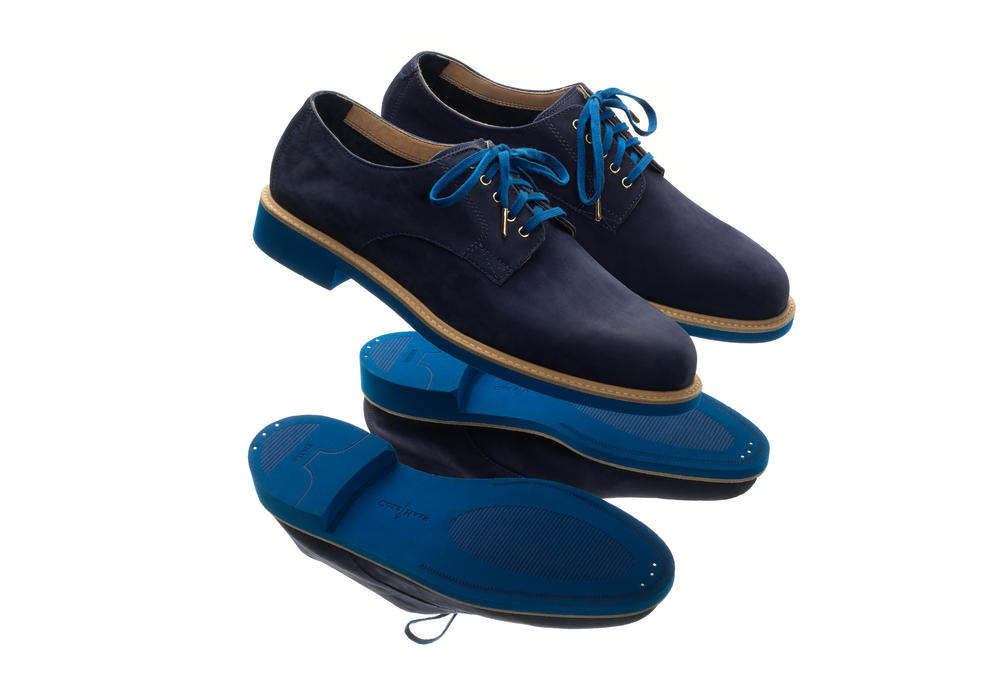 Cole Haan Theophilus Blue Suede Buck