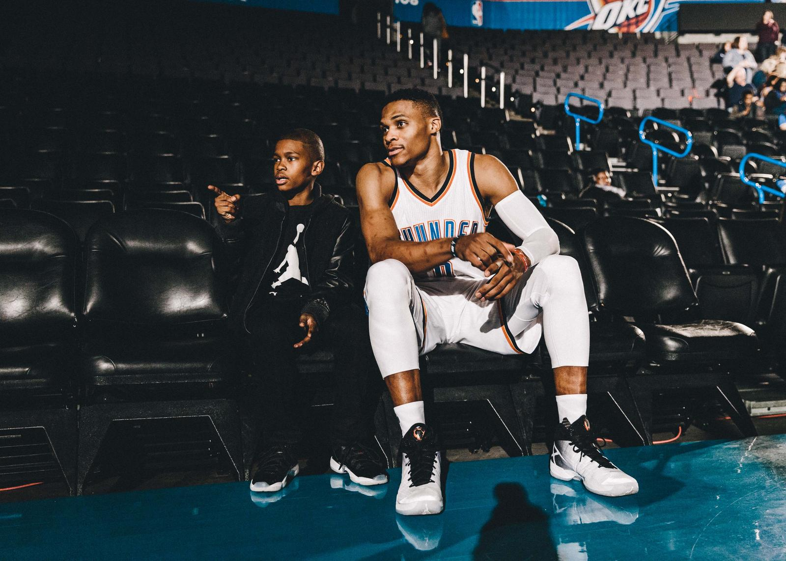 Westbrook behind the scenes at the AJ XXX commercial shoot
