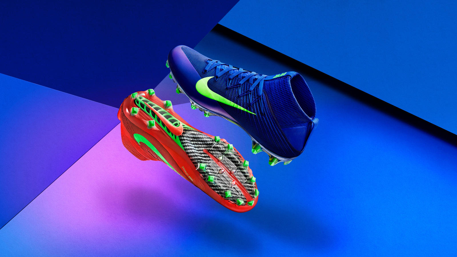 Nike Football Flashes Color at the Speed of Light. Share Image