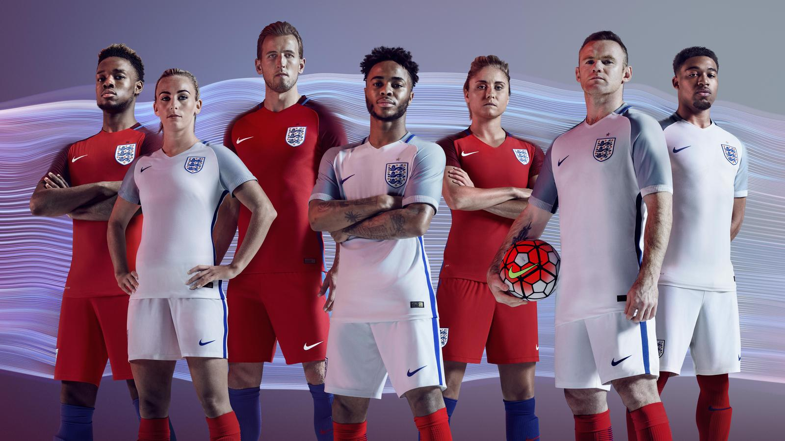 England 2016 National Men and Women's Football Kits. The ...