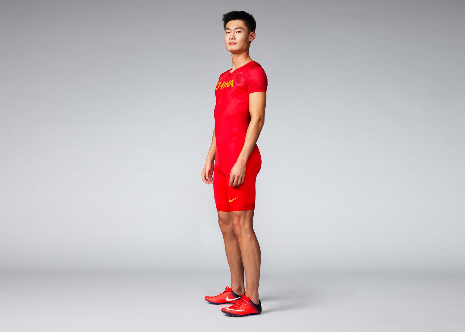 Zhang Peimeng in Nike Vapor Track & Field Kit