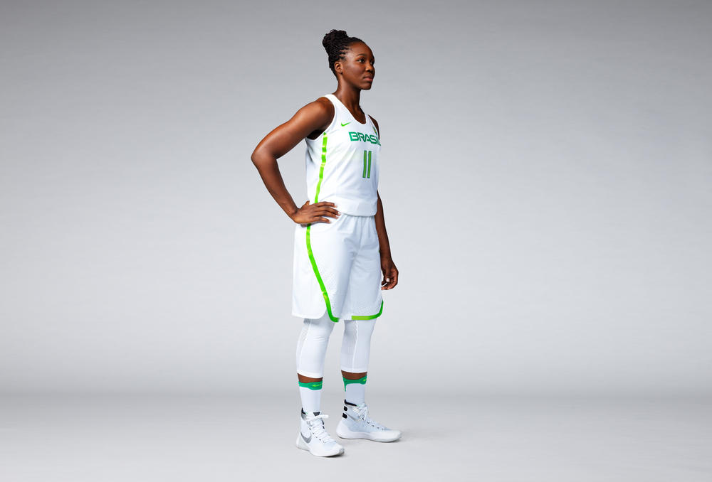 Brasil 2016 Nike Vapor Basketball Uniforms