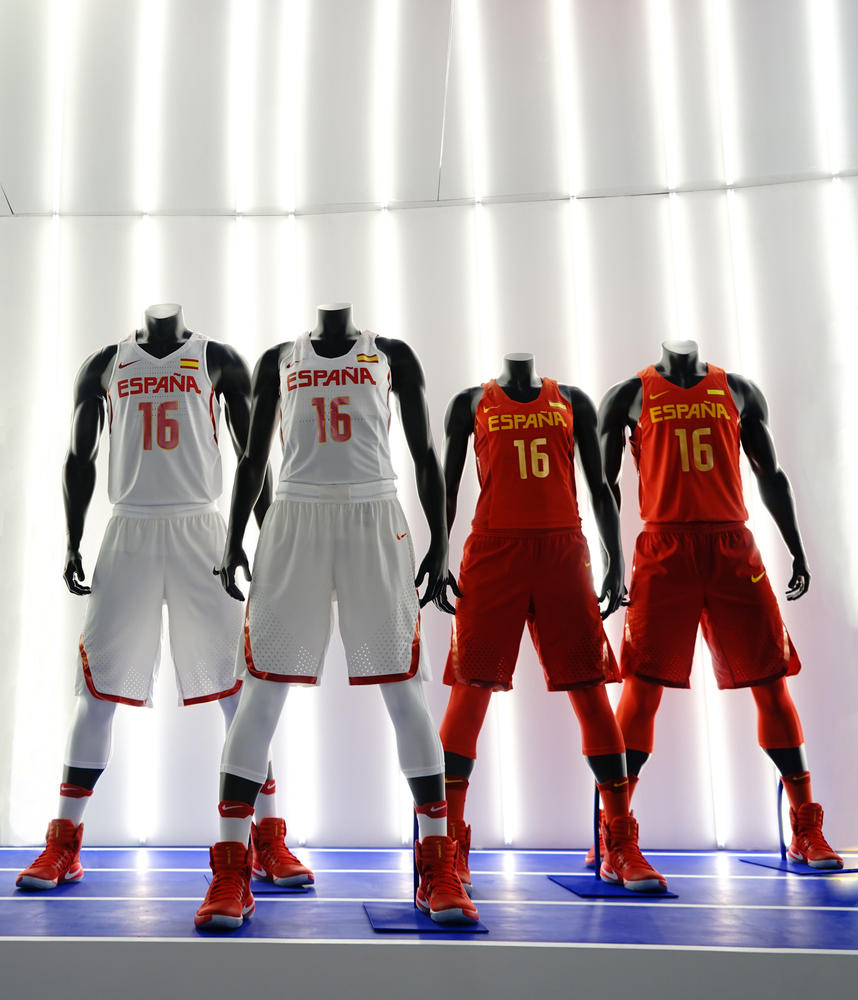 Spain 2016 Nike Vapor Basketball Uniforms