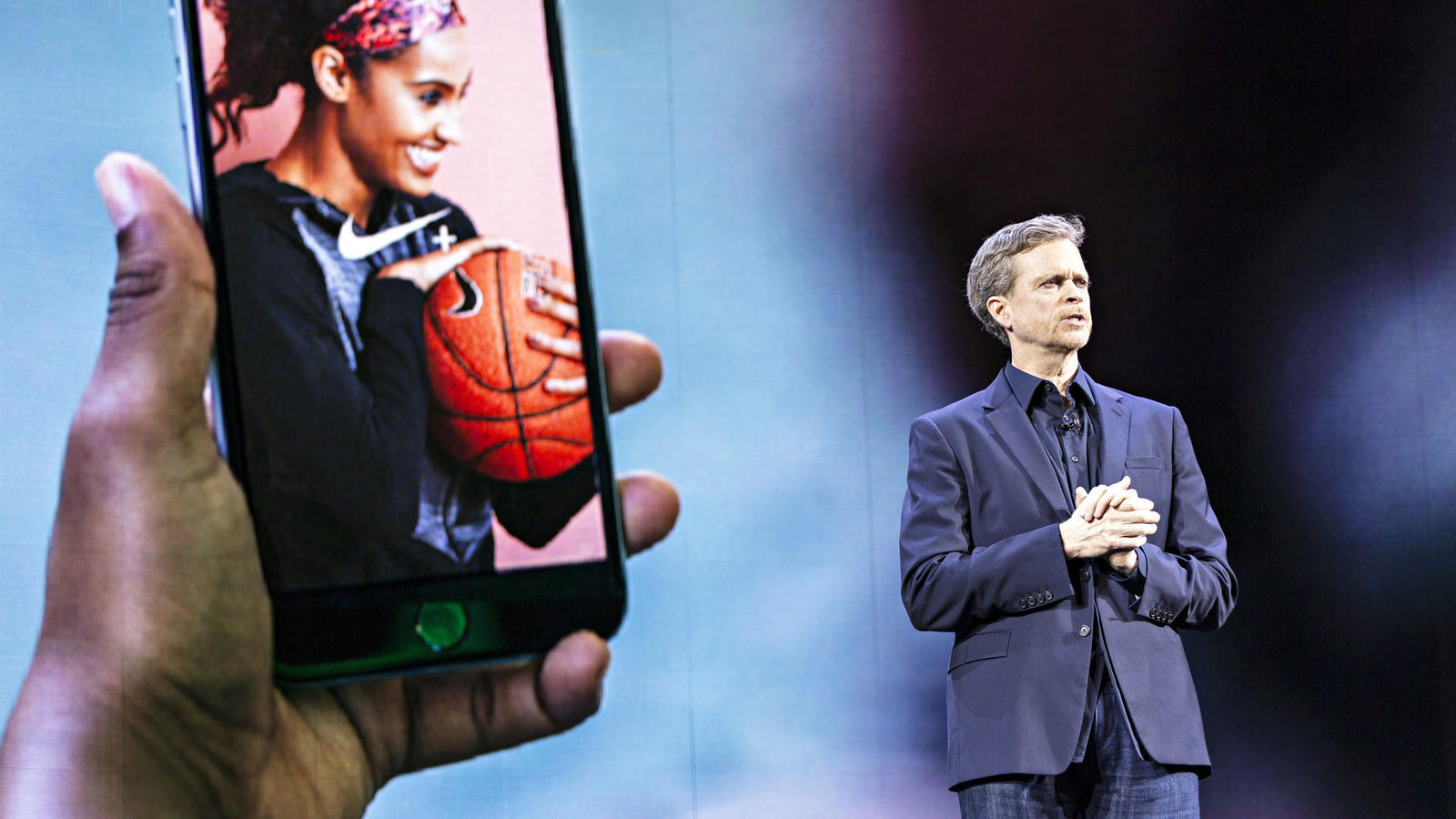 NIKE, Inc. President & CEO Mark Parker onstage at Nike's Innovation 2016  event.