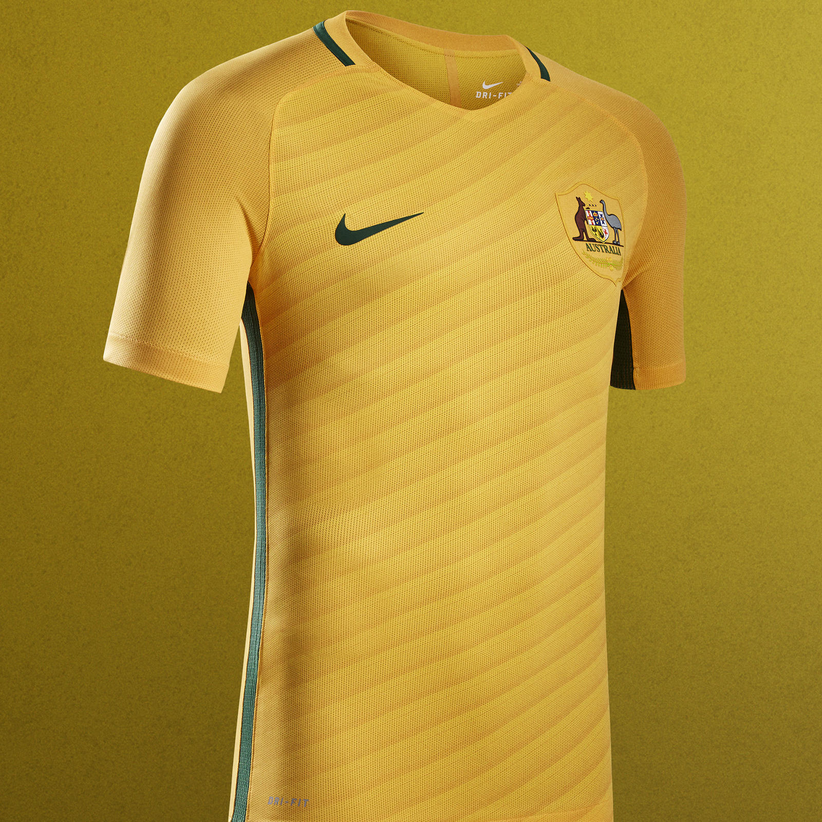 Australia 2016 national football kits nike news for Unique home stays jersey