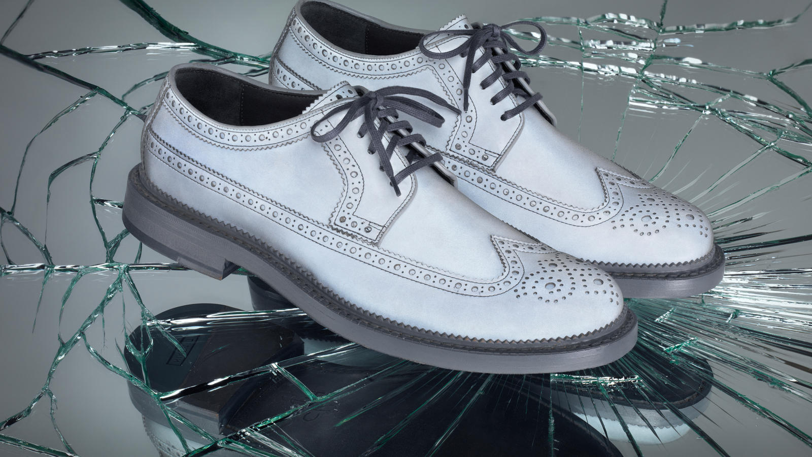 Cole Haan Reflective Wingtips and Penny