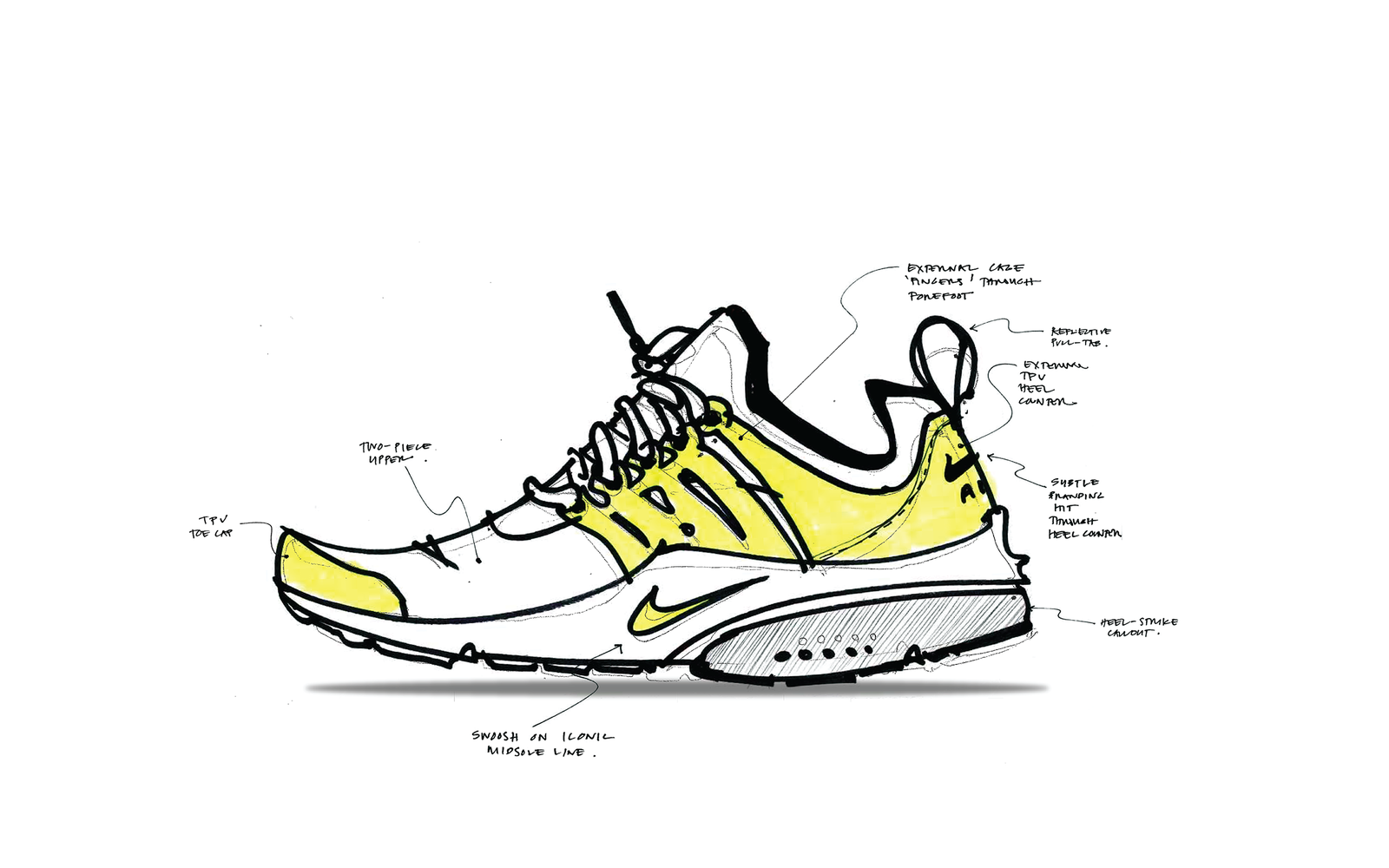 Nike Air Presto Flyknit_sketch