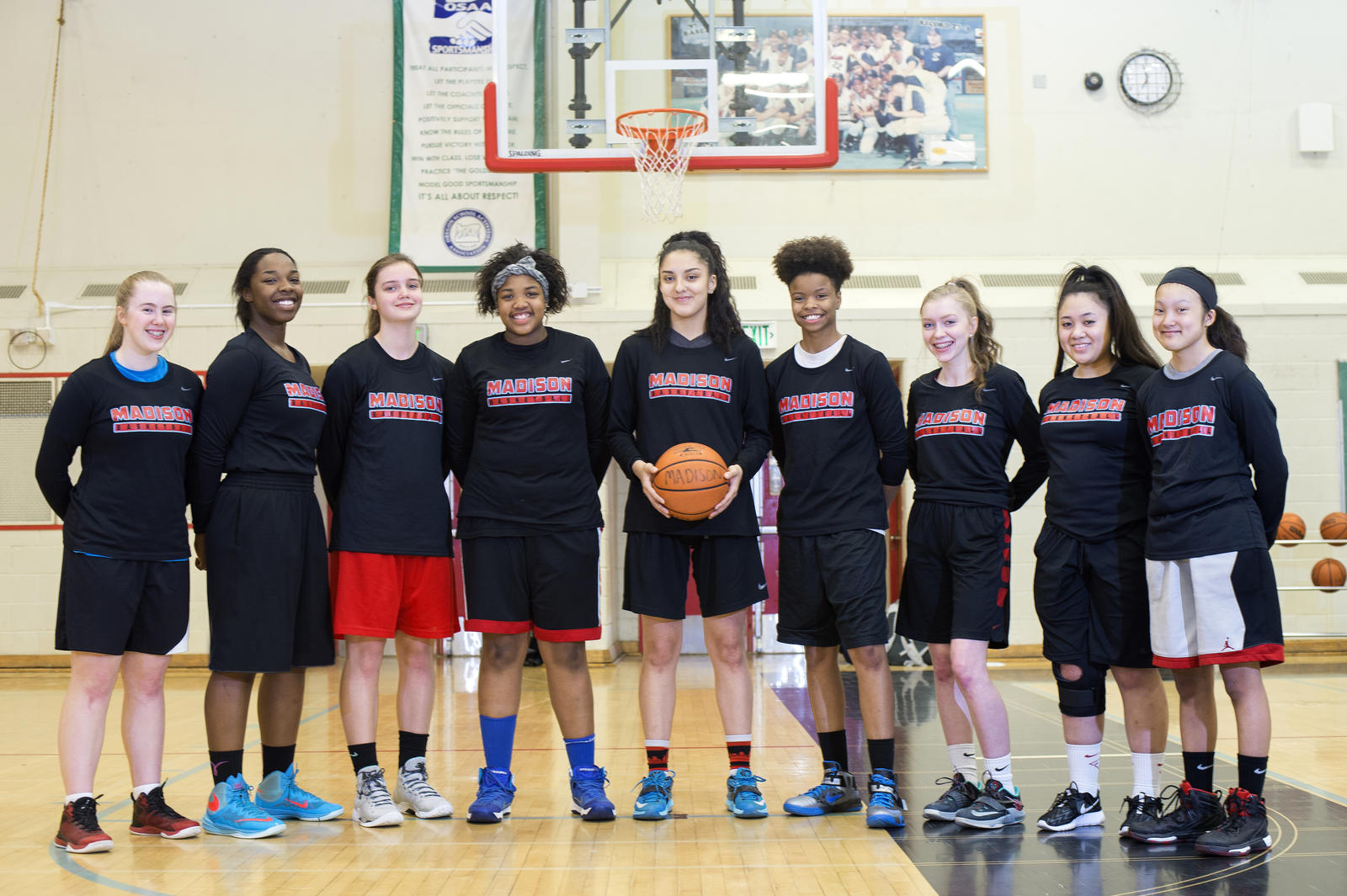 The Madison High School girl s basketball team will use their NCIF grant to  go towards strength 52bcf9a6f7ec