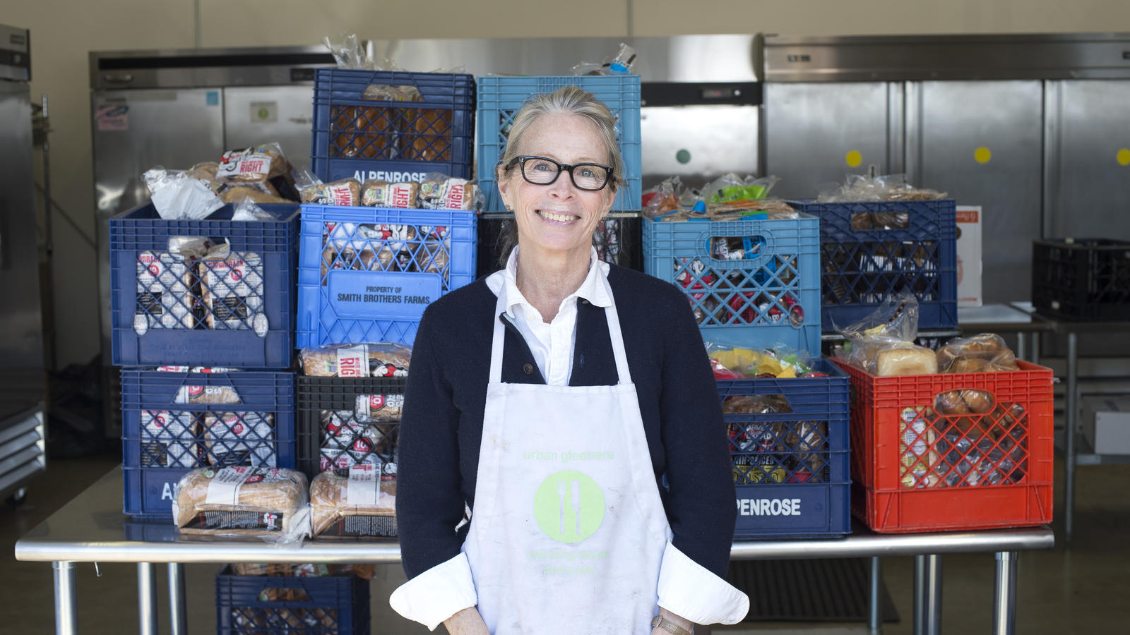 Tracy Oseran, Executive Director of Urban Gleaners, which alleviates hunger by collecting edible food that would otherwise be thrown away and delivering it to those in need throughout the Portland Metro area.