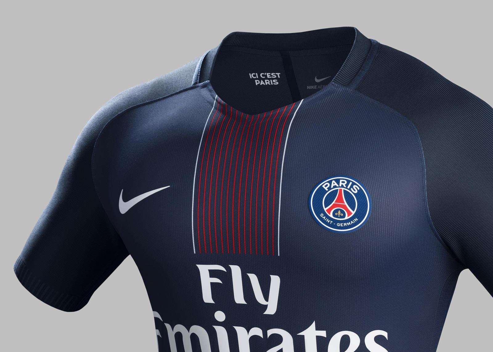 Paris Saint Germain home kit 2016-2017. Share Image. Paris ...
