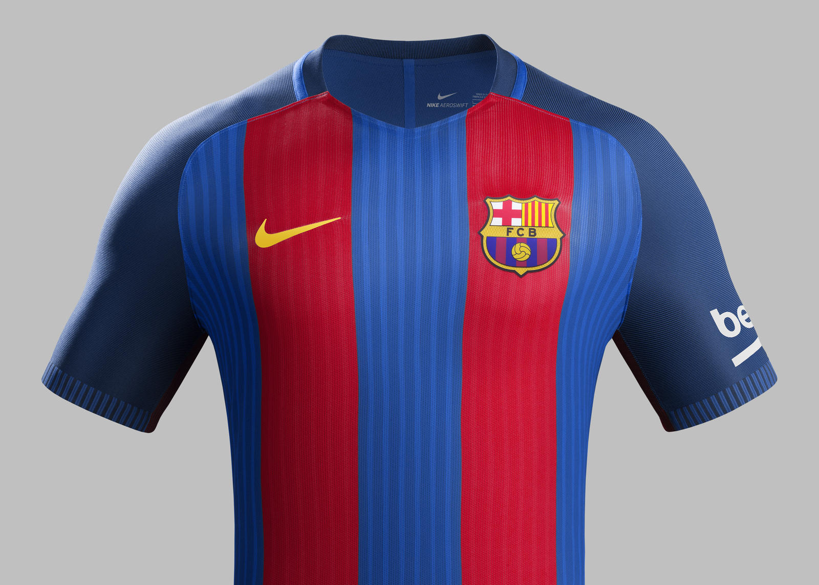 1af9587933 Su16 CK Comms H Front Match FCB R. FC Barcelona home kit 2016-2017.  Su16 CK Comms H Crest Match FCB R
