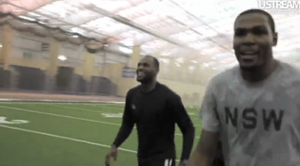 LeBron James and Kevin Durant Play Flag Football Game
