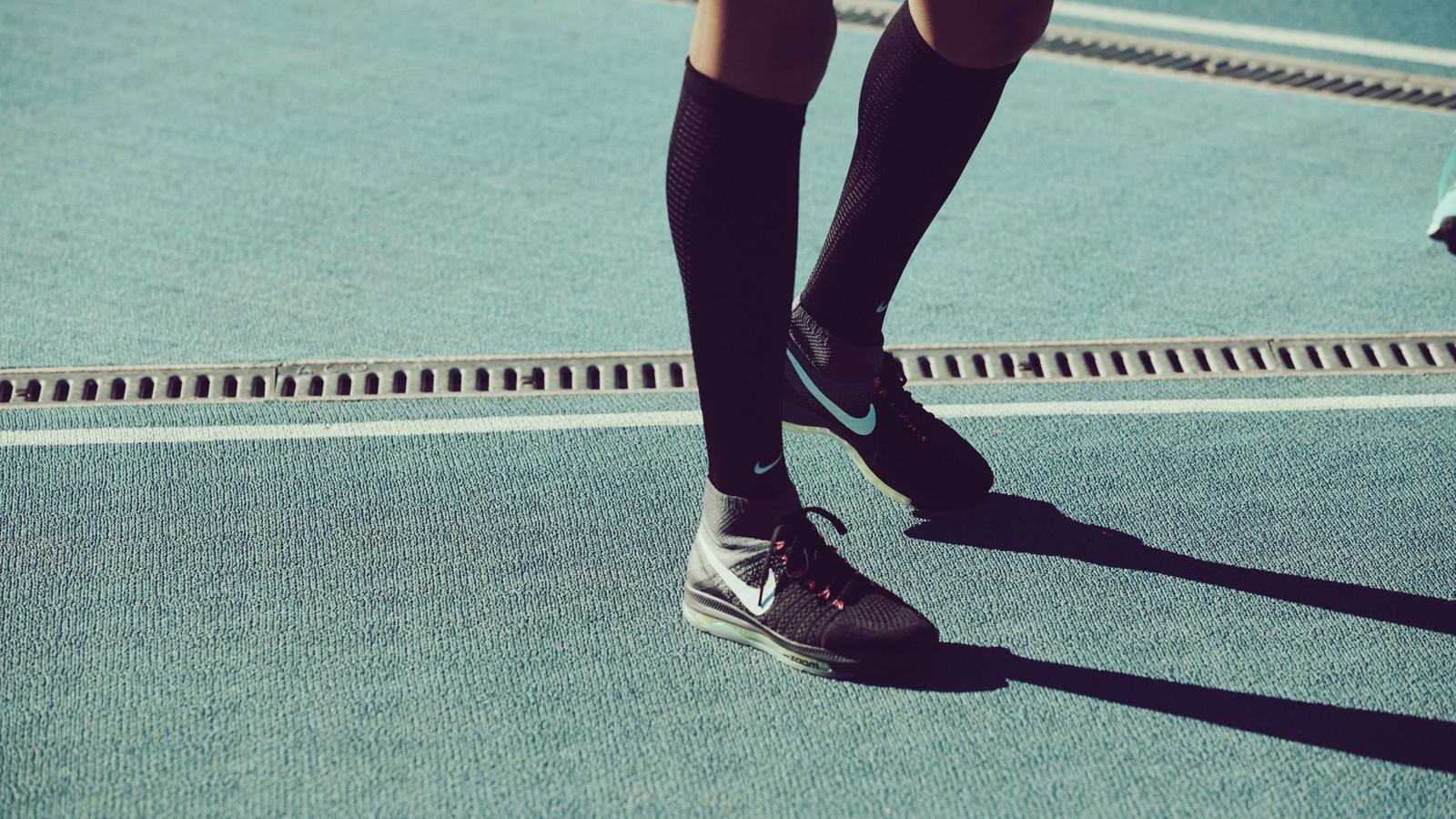 finest selection d52ae 64e4a Allyson Felix wears the Nike Air Zoom All Out