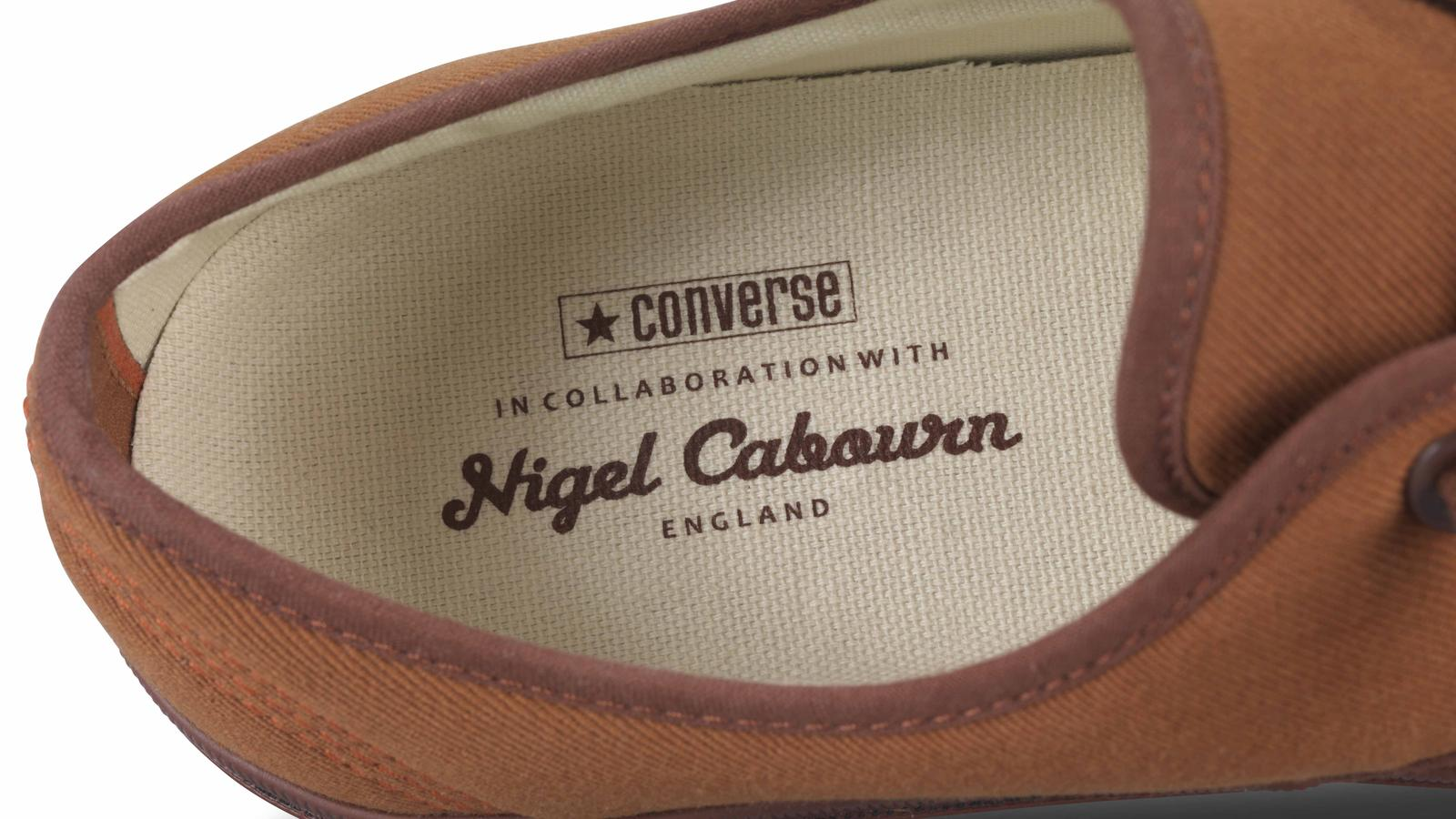 Nigel Cabourn For Converse Plimsole Brown. Detail Original