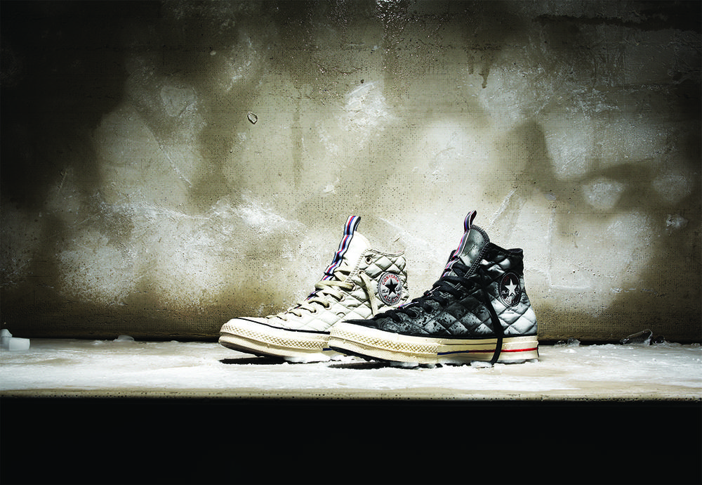 THE CONVERSE ALL STAR CHUCK '70 DOWN IS BUILT TO COMBAT THE ELEMENTS