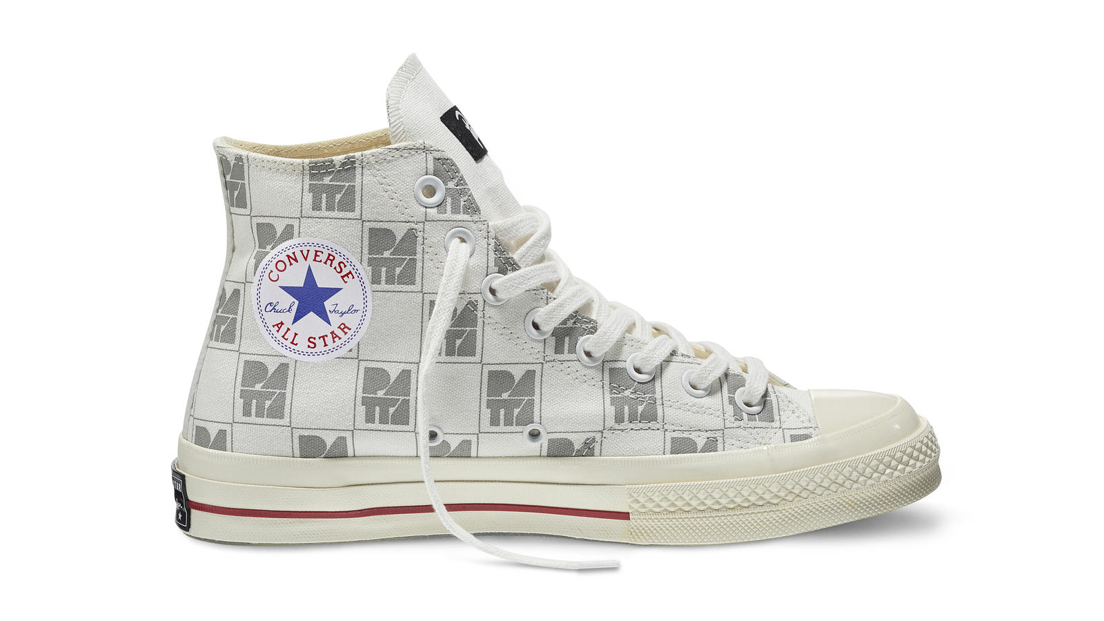 Converse All Star Ct70 Patta10 White Gray Original