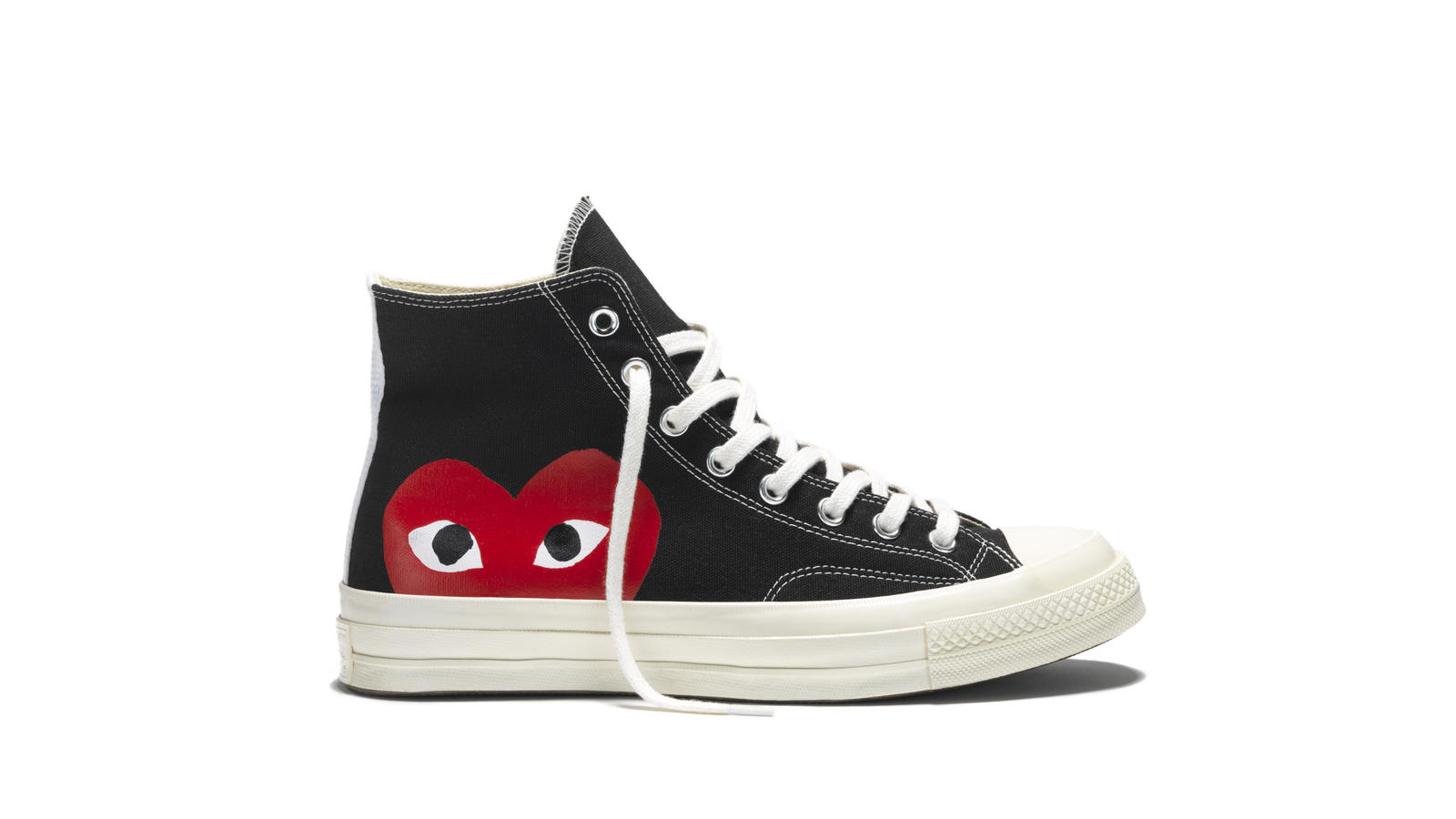 66727abed0a414 Chuck Taylor All Star 70 Play Comme Des Garcons Black High Top Original