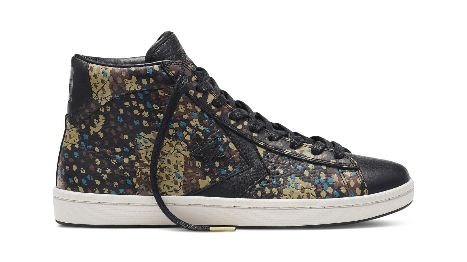 Converse Cons Pro Leather Painted Camo   Black Original