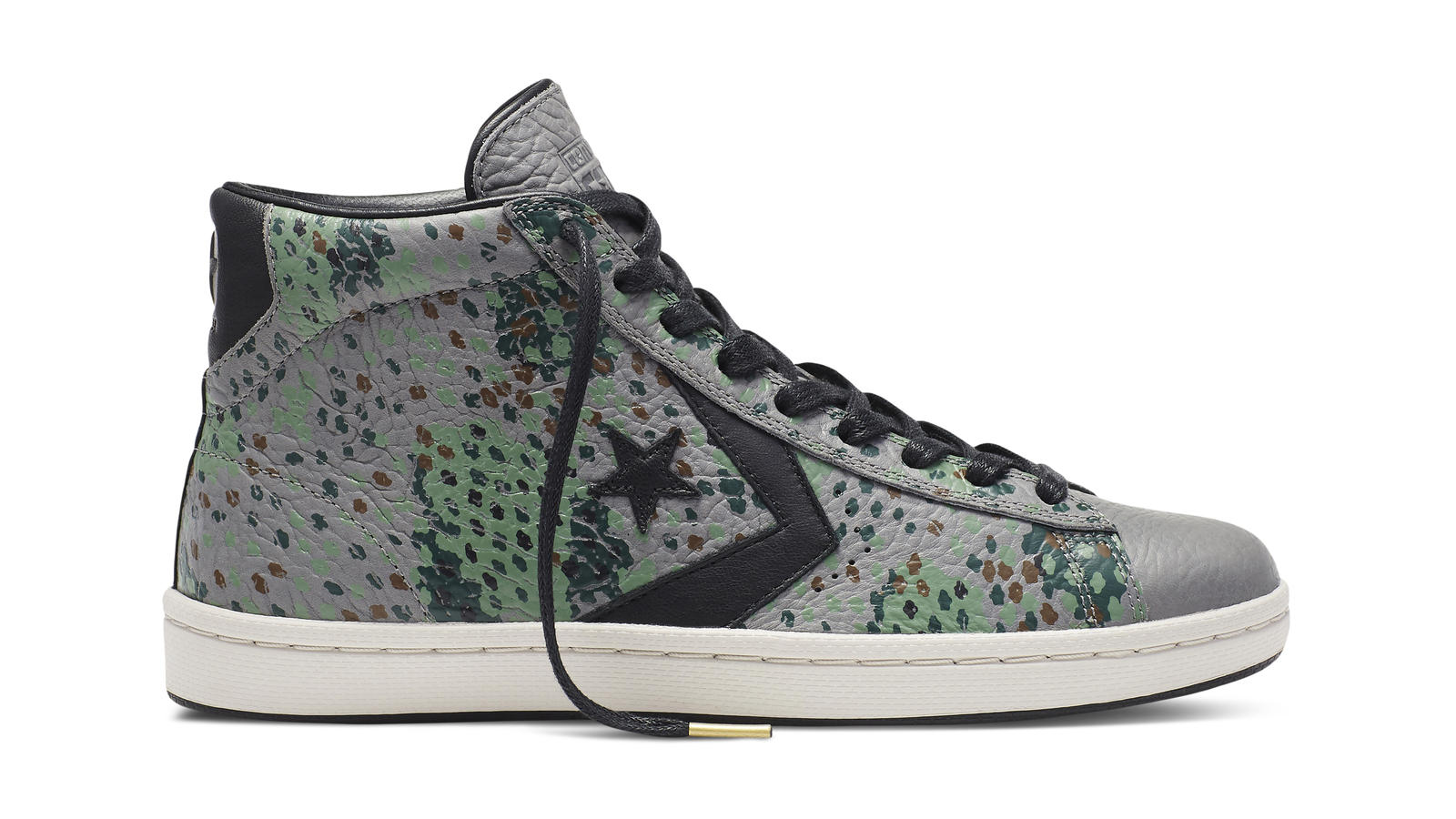 Converse Cons Pro Leather Painted Camo   Gray Original