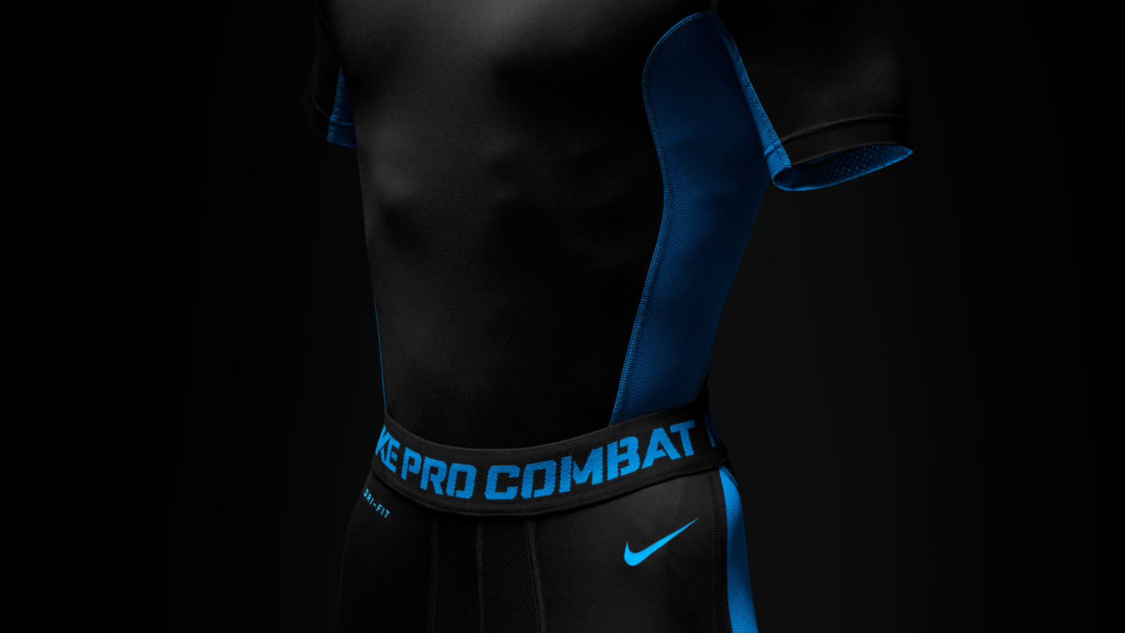Nike Pro Combat Hypercool Fitted Top and Shorts