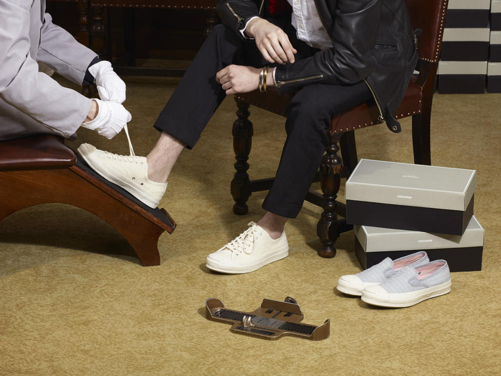 CONVERSE FIRST STRING AND BUNNEY CELEBRATE PREMIUM BRITISH CRAFTSMANSHIP