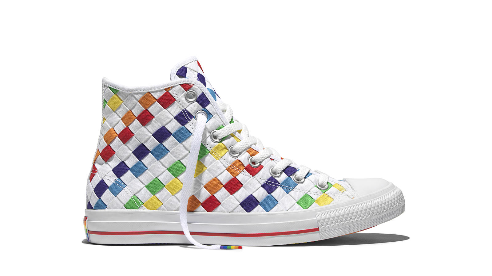 ... chuck taylor all star hi top lgbt gay pride rainbow white 157375c 1d5f3  low price the 2016 converse pride collection celebrates the creativity of  all ... b32ecb7ce