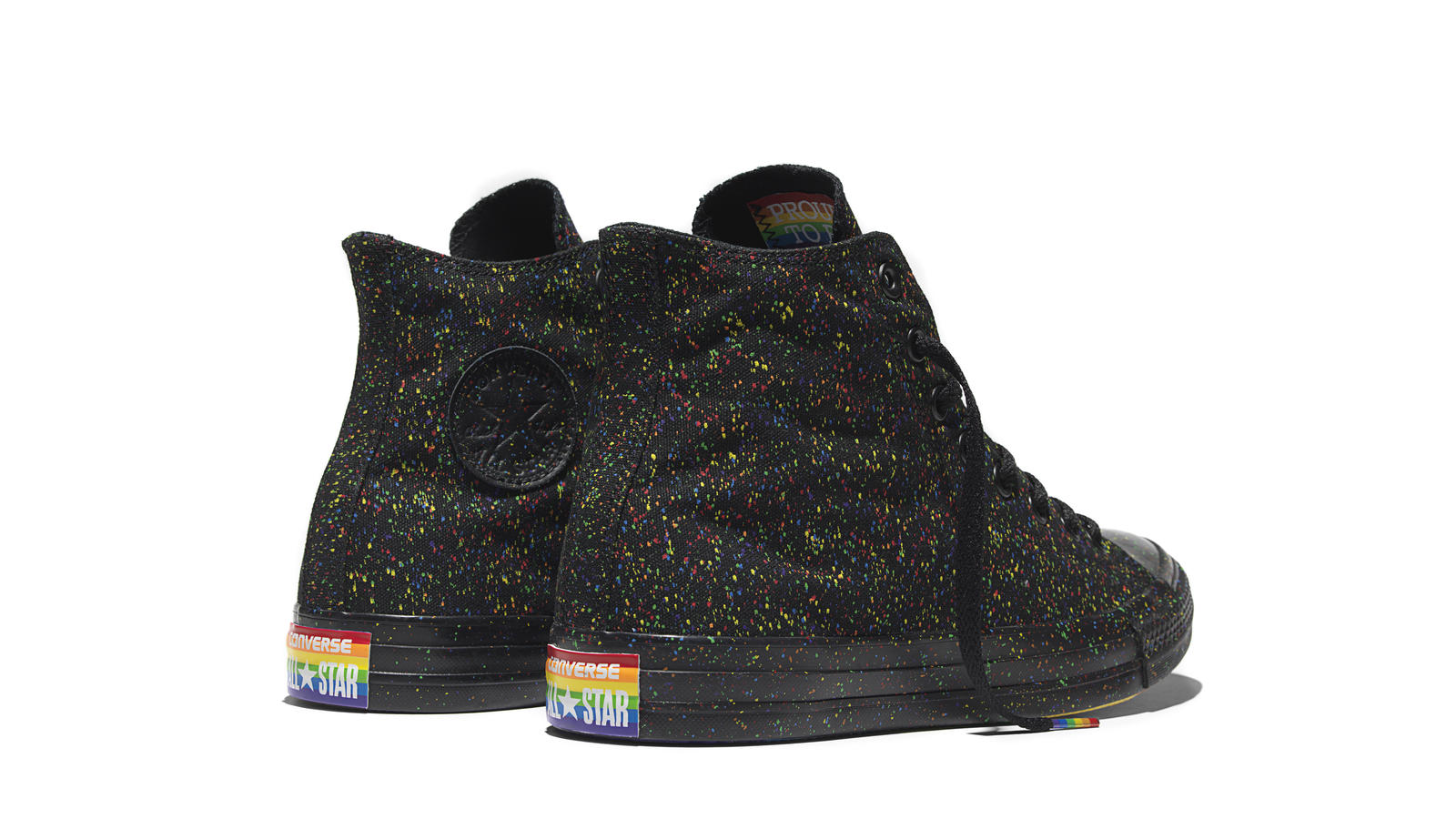Converse Chuck Taylor All Star Pride   Black Back Original