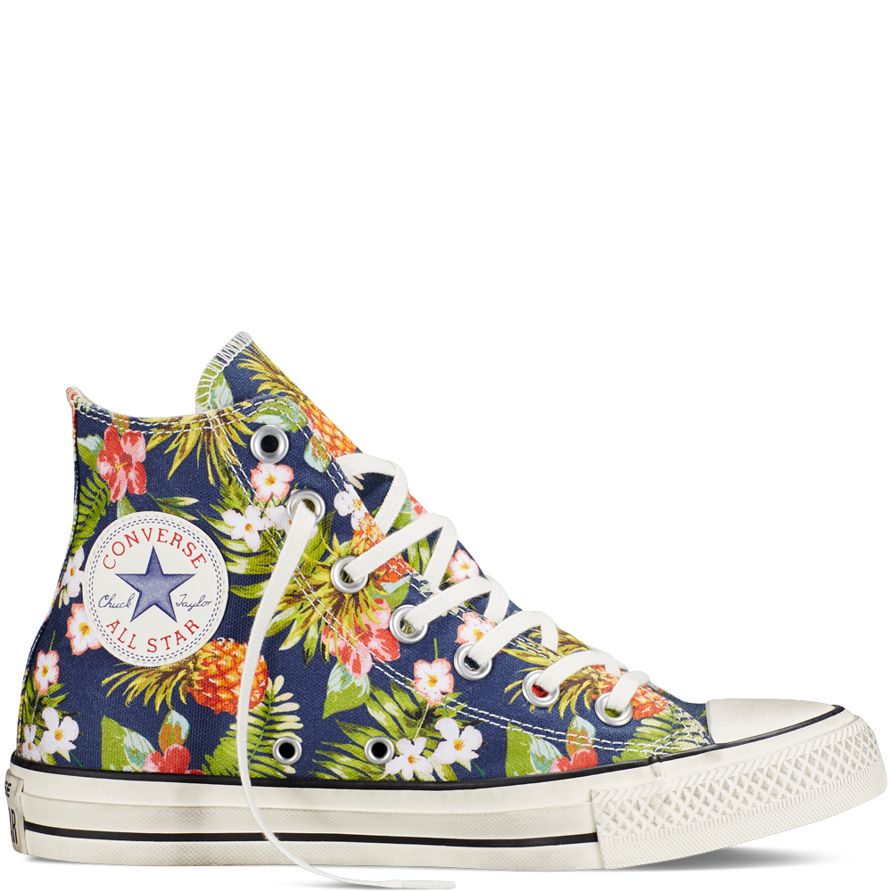 Women's Converse Chuck Taylor All Star Floral High Top - Shoe QH751176d