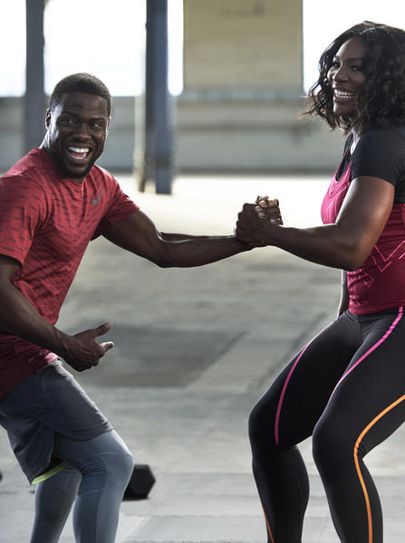 Watch Kevin Hart Warm-Up with Serena Williams - Nike News