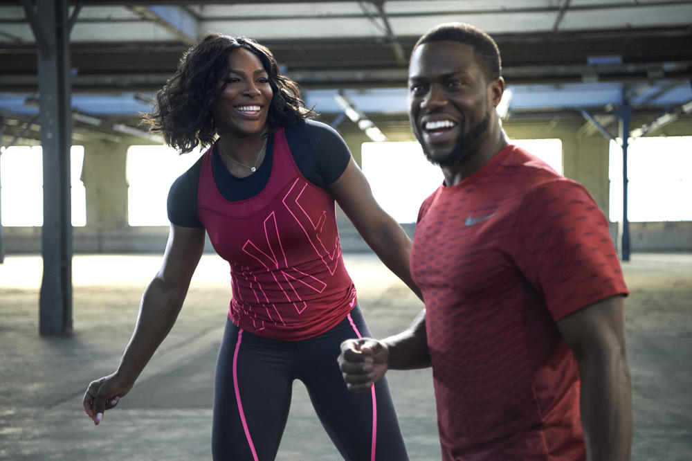 Watch Kevin Hart Warm-Up with Serena Williams