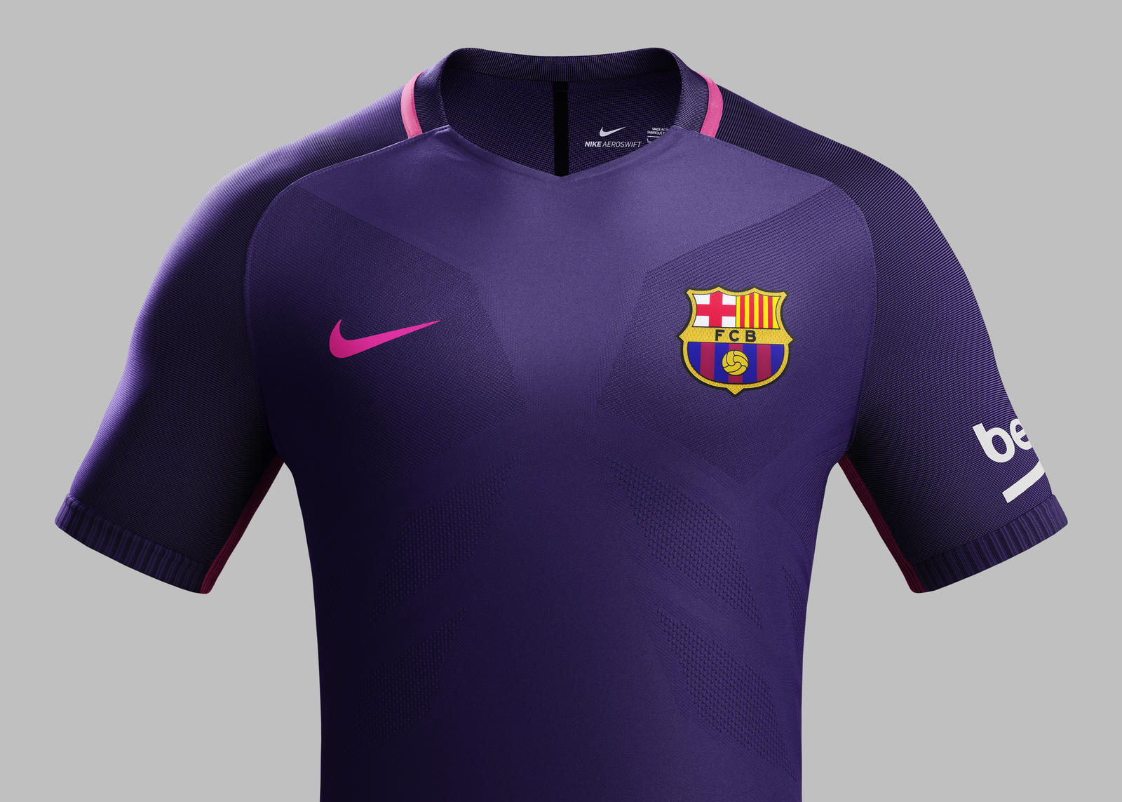Su16 CK Comms A Front Match FCB R. FC Barcelona away kit 2016-2017.  Su16 CK Comms A Crest Match FCB R ad5fd9023a6b